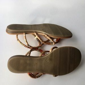 "Fergalicious Shoes - Fergalicious ""Goldy"" Sandals in Tan. Size 5"